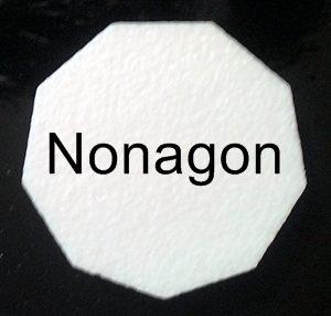 nonagon cake dummy