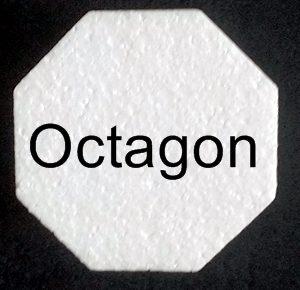 octagon cake dummy