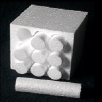 Round polystyrene cylinders