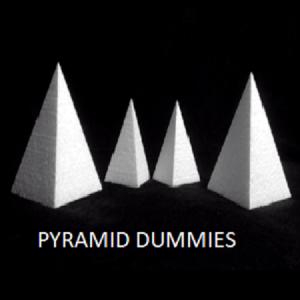 pyramid cake dummy